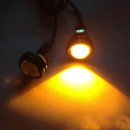 9W parafuso no parafuso Eagle Eye cauda luzes 5Colors lâmpada de backup LED Fog condução motor do carro à prova d'água 1.8CM