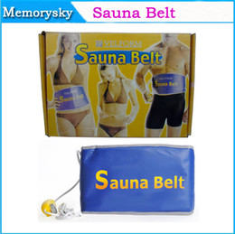 Wholesale New Fashion Heating Slimming Belt Far Infrared Sauna Belt Body Massager Belt for Quick Weight Loss Calorie Burn V V Retail Box