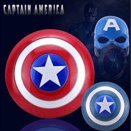 Wholesale Captain America Shield Avengers Super Heroes Shield with Sound LED Light Halloween Avengers Alliance Cosplay Shield Lumious LJJE343