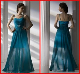 Wholesale Cheap In Stock Bridesmaid Dresses A Line Sexy Spaghetti Strapless Floor Length Backless Sashes Formal Prom Dress Party Gowns Hot Sale