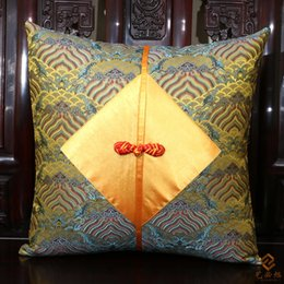 chinese chair cushion covers handmade patchwork pillowcase for waist pillow bedside latest chinese knot luxury - Chair Cushion Covers