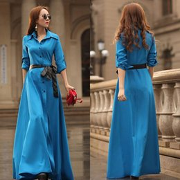 Wholesale 2015 Beach Long Maxi Dress Sexy Long Sleeve Boho Evening Party Dress For Women With Belt
