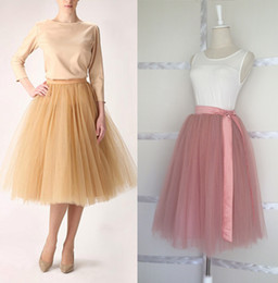 Wholesale Brand New Puffy layers Tulle Skirts Adult Women Princess Tutu Party Wedding Tea length cm All Colors Custom Made Drop Shipping