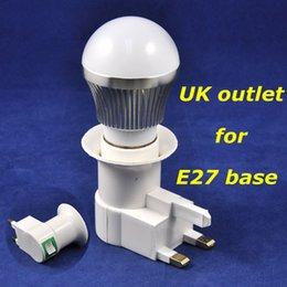 Light Bulb Suppliers Uk: 100pcs lot DHL EMS Fedex shipping UK outlet for E27 emergency charger base  adapter Converter for led bulb light,Lighting