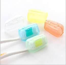 Wholesale set Portable Toothbrush Cover Holder Travel Hiking Camping Brush Cap Case A119