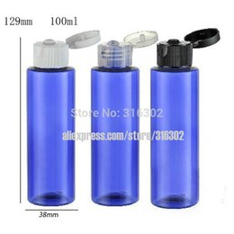Wholesale ml DIY Empty Blue Pet Bottle With Flip Top Cap cc Blue Plastic Cream Bottle Cosmetic Container