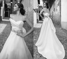 Wholesale Trumpet Wedding Dresses Sweetheart Strapless Long Length Off The Shoulder White Organza Beading Sashes Crystals Wedding Dresss