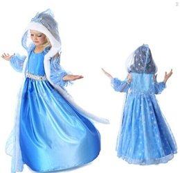 Wholesale 20 Frozen Dress Elsa Anna autumn Dress Girl Hot Princess dresses Brand Girls Dress Children Clothing christmas costumes
