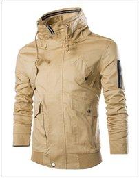 Wholesale Los nuevos hombres de la chaqueta Estilo Militar primavera otoño Casual Multi bolsillo Hombres chaqueta rompevientos exterior Abrigos