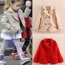 Wholesale Lovely Girls Kids Trench Coat Wind Jacket Y Autumn Party Outwear Clothing DH04