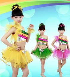 Wholesale 2015 younth belly dancing skirt stage wear for girls kids festival competition veil costumes Jazziness Latin dance skirt as performance