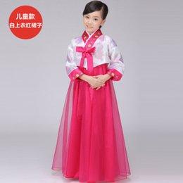 Wholesale cheap white sexy South Korean traditional hanbok dress girls Dae Jang Geum kids clothing Traditional ethnic clothing dress