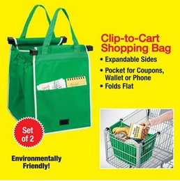Wholesale Eco Friendly Grab Bag Shopping Grocery Bag For Supermarket Trolleys Carrier Bag Shopping Bag Reusable Trolleys Folding Shopping Bag DHL Free