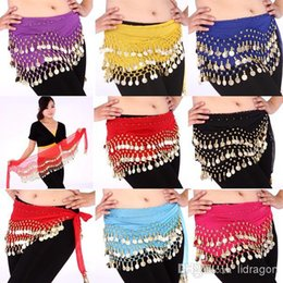 Wholesale You Can Choose Color Rows Coins Belly Egypt Dance Hip Skirt Scarf Wrap Belt Costume High quality