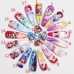 Wholesale Frozen girls hairpins children cartoon hair accessories princess elsa anna Cinderella Mermaid snow white Hairpin Clip Hair Clip