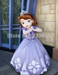 Wholesale hot selling sofia the first princess costume sofia mascot costume