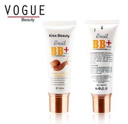 Wholesale Kiss Beauty snail BB cream face waterproof foundation for women moisturizer sun block concealer nutritious BB cream