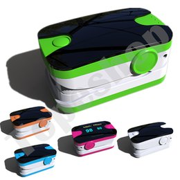 Wholesale 5 Color availble Visual Alarm OLED Fingertip Pulse Oximeter Blood Oxygen SpO2 saturation oximetro monitor oxymetre pulso metros