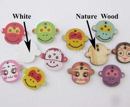 Wholesale WBNNAO Singe Motif mixte trous bois Mignon coudre Boutons enfants accessoires de vêtements décoration