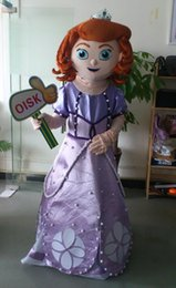 Wholesale fast ship Sofia the first Mascot Costume party dresses costume made mascots costumes for adult