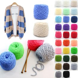Wholesale New Arrivals Clothing Fabric Knitting Wool Yarn Balls Soft Cashmere Crochet Skein Woven Short plush Weight g CX47