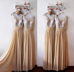 Wholesale 2015 Prom Dress V Neck Sleeveless Formal Dresses Floor Length Zipper Cheap Prom Dresses Chiffon With Sequins