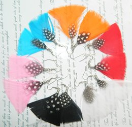 Wholesale New Arrival High Quality Fashionable Feather Earrings Random Color Women Ornament