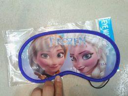 Wholesale 2014 New arrival Frozen Elsa Anna Kids Sleep Eye Mask Snow Queen Princess Children Vision Care Eye Masks Childs Boys free ship