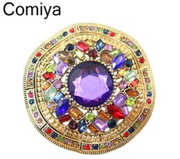 Wholesale Comiya bride synthetic gemstone fashion bijoux brooch for wedding pin up acrylic wedding dress cachecol Brooches jewelry