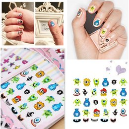 Wholesale 10 Style D Mixed Cartoon Decal Stickers Nail Art Acrylic Manicure Tips DIY Deco