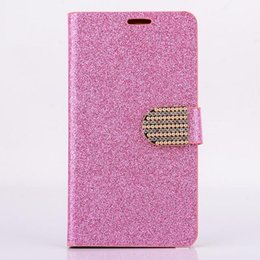 2017 diamond glitter chrome iphone Glitter Bling Chrome Skin Wallet Diamond Flip Stand Leather case cover cases For Iphone 6+ 6 Plus Galaxy Note 4 Note4 N9100 100pcs 200pcs cheap diamond glitter chrome iphone