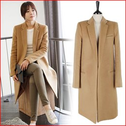 Womens Camel Cashmere Coat