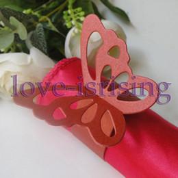 Wholesale Hot Sale Red Paper Butterfly Napkin Rings Wedding Bridal Shower Napkin holder Sample Order