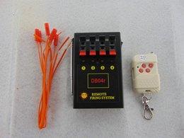 Sicurezza Ignition Electroni filo 4 Cues fuochi d'artificio che infornano il sistema + CE FCC Superato frequenza trasmettitore ricevitore Partito codice fisso Wireless Switch