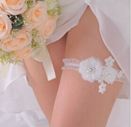 Wholesale 2014 Hot Sexy Cheap Bridal Garters Stunning Lace Flowers Elegant Wedding Acccessories LX