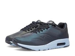 Discount Shoes Run Air Max Air 1 Ultra Moire QS Iridescent Pack Deep Pewter Max Black-Porpoise Men Women Running Shoes, Eur 36-45 USsize 6.5 -11.5