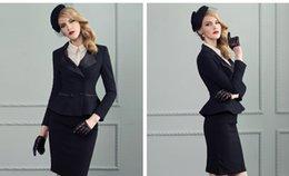 Wholesale Small ladies dress suit suits the European and American high end business attire women s black dress suit