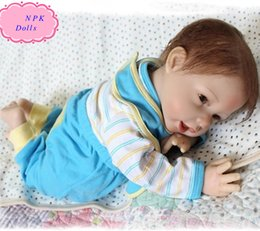 Wholesale 22inch cm Silicone Reborn Baby Dolls Handmade Soft Silicone Lifelike NPK Real Doll With High Quality Clothes