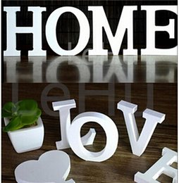 new 8cmx12cm thick wood wooden white letters alphabet wedding birthday home decor decoration hot sale