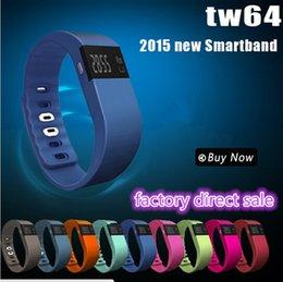 Новые TW64 Фитнес-трекер Bluetooth Smartband Спорт браслет Смарт диапазона Wristband шагомер для iPhone IOS Android PK Fitbit