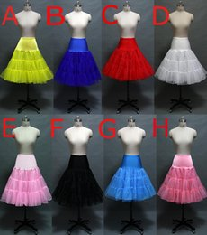 Wholesale s Retro Underskirt short crinoline petticoats Petticoat Fancy rockabilly Colores To Choosing Style peticoat