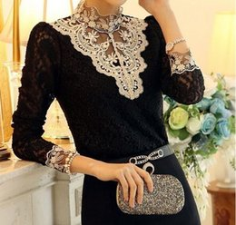 Wholesale 2014 new fashion plus size women lace clothing t shirt punk sexy tops tee clothes T shirt Sexy long sleeve