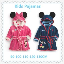 Wholesale Children Pajamas Robe New Kids Micky Minnie Mouse Bathrobes Baby Cartoon Home Wear