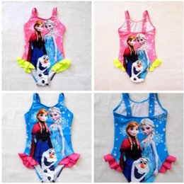 Wholesale New arrival frozen design print one piece swimwear swimsuit for baby girls bathing suits swim suits high quality retail
