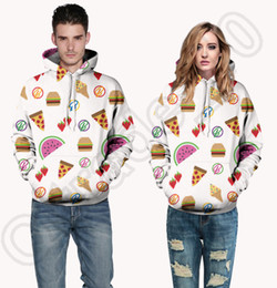 online shopping 1PCS HHA653 d hooded sweatshirt printed animal food galaxy emoji Valentine sweatshirts hoodie for lovers hoodie funny jogging