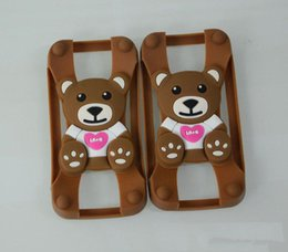 Wholesale Edge Universal Silicone Bumper Frame Cartoon Sulley Bear Stitch Monster Doll cell phone case for iphone plus freeshipping new sale