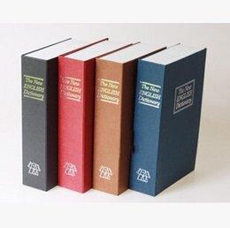 Em armazém, Livro, Dicionário de Segurança Caixa de dinheiro Caixa com artigos da novidade tecla do tamanho M