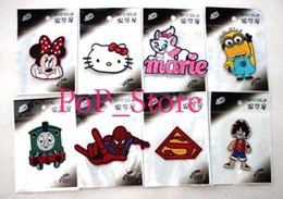 Wholesale Mickey mouse batman kitty Iron On Patches sew on patch Appliques Made of Cloth Guaranteed Quality mix order