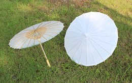 Wholesale Paper umbrellas Small wedding parasols Fancy bridal accessories Handmade diameter inches plain white color DIY supplies