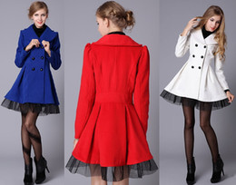 Woman Coat Woolen Red Online | Woman Coat Woolen Red for Sale